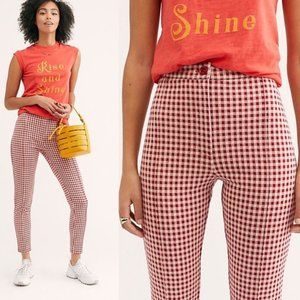 Free People Carnaby Gingham Checkered Pant 0